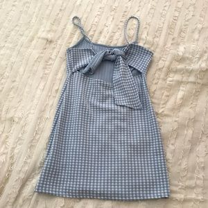4ca22d40389eb Topshop Dresses | Gingham Mini Pinafore Dress | Poshmark